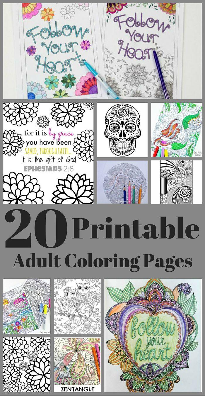 20 Free Adult Coloring Pages | Colorear, Puntillismo y Imprimibles