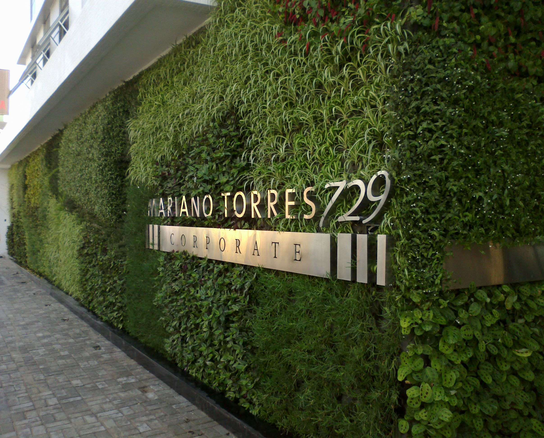 Signage On Green Background
