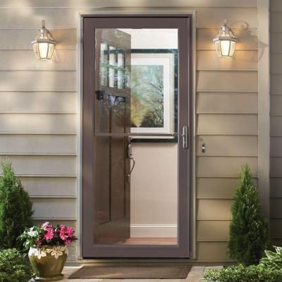 Andersen 36 in. x 80 in. 3000 Series White Self-Storing Easy Install Storm Door-3SNEZR36WH - The Home Depot