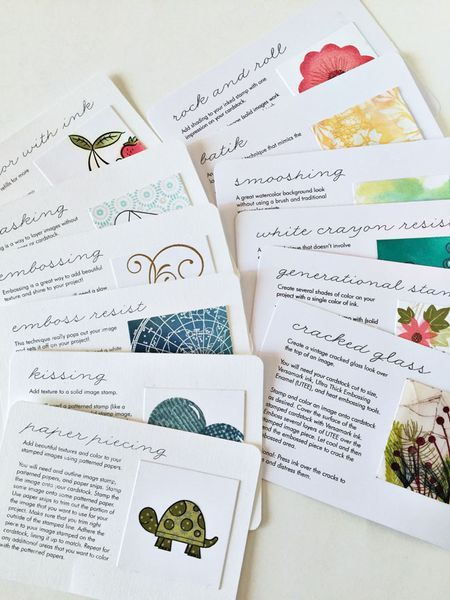 stamping techniques catalog cards - bjl