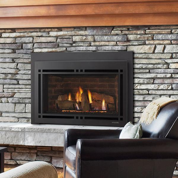 majestic ruby direct vent gas fireplace insert large dream house rh pinterest com