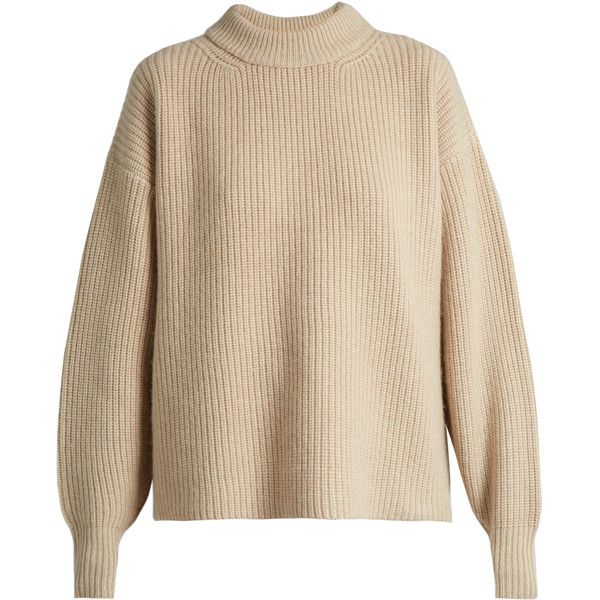 The Row Delia boyfriend knit sweater ($1,132) ❤ liked on Polyvore ...