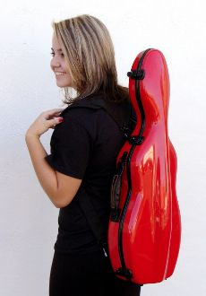 A violin case that looks like a cello case...cuter than a puppy in a teacup!
