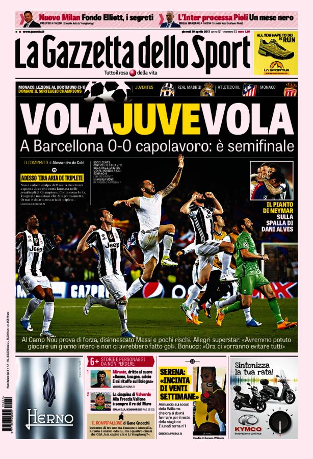 La Gazzetta dello Sport // 20/04/2017 // Giocatori di