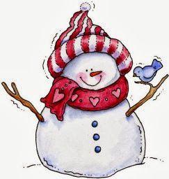Resultado de imagen de dibujo muñeco de nieve