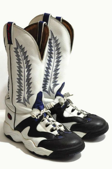 The second worst shoes on the planet  Cowboy Basketball Sneakers. They cost   200 but 88018ea40524