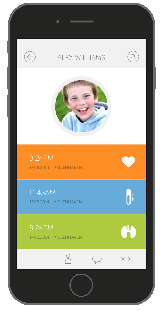 Secure your family's health history on your phone and the CliniCloud Cloud. Easy to access, easy to share!