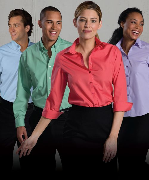 Open neck uniform blouses for any business.