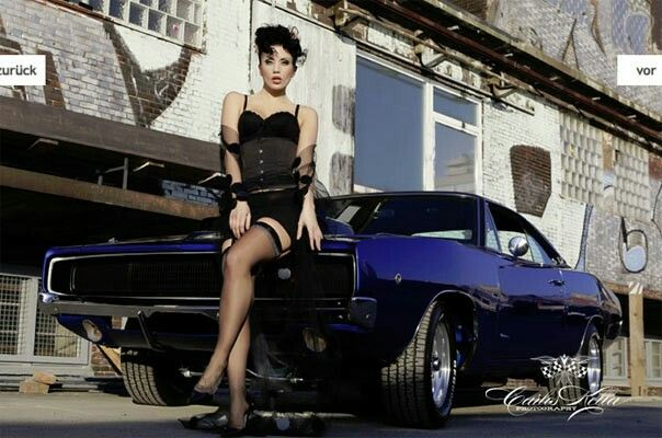 Challenger sexy car girl goth girl sexy heels - Muscle car girl wallpaper ...