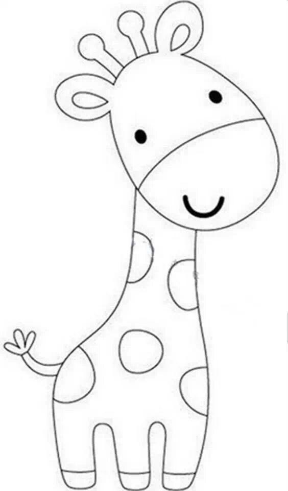 Jirafa Infantil Con Imagenes Moldes De Dibujos Patron De
