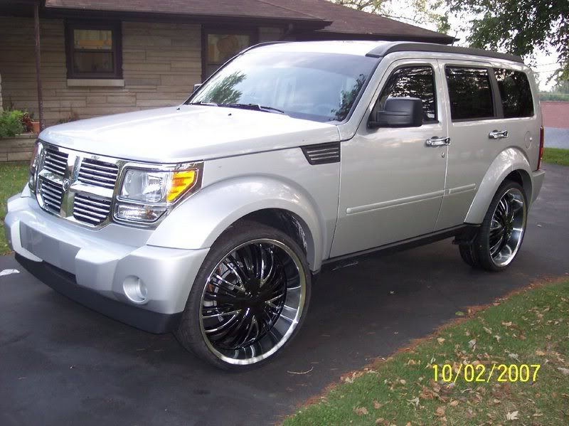 Black Dodge Nitro 24 Inch Rims Suv 4x4