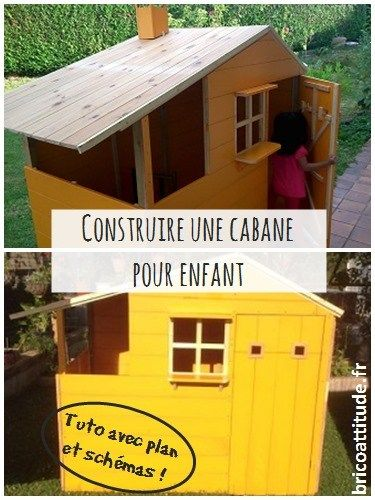 plan cabane enfant brico jardin Pinterest Bricks