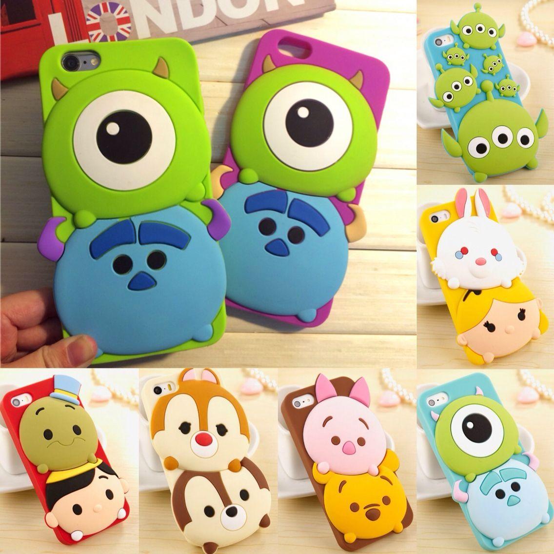 625a743d5d9 Disney Tsum Tsum phone cases! | fundas de movil | Fundas para ...