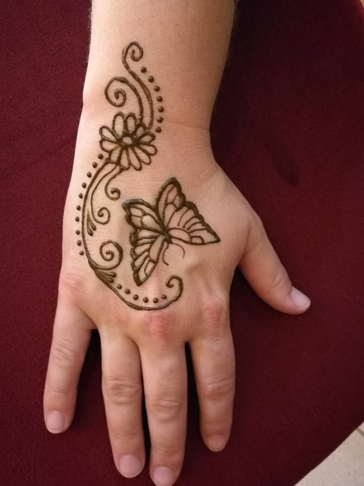 Simple Henna Butterfly Simple Henna Patterns Henna Tattoo Designs Simple Mehndi Designs For Hands