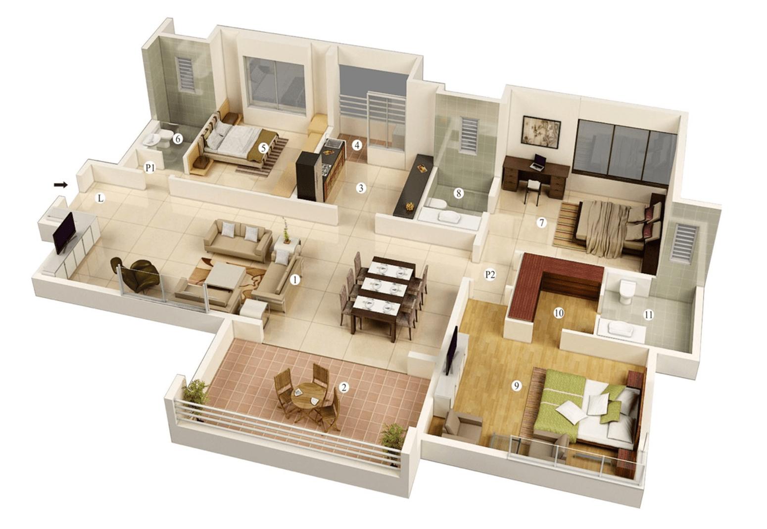 Best Bedroom Home Plans Designs 2 Viralinspirations Denah Rumah Desain Rumah Rumah Minimalis