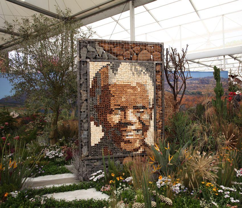 Spot Nelson Mandela! #gardening #gardendesign #RHSChelsea
