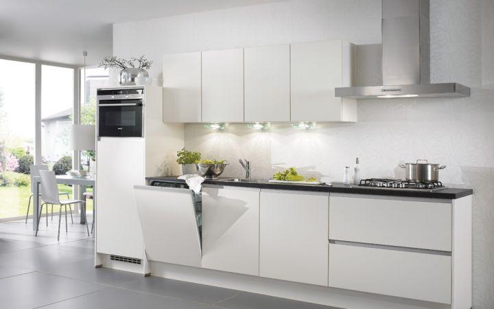 Greeploze Keuken Mat Wit : De greeploze keuken Felina is een moderne keuken met