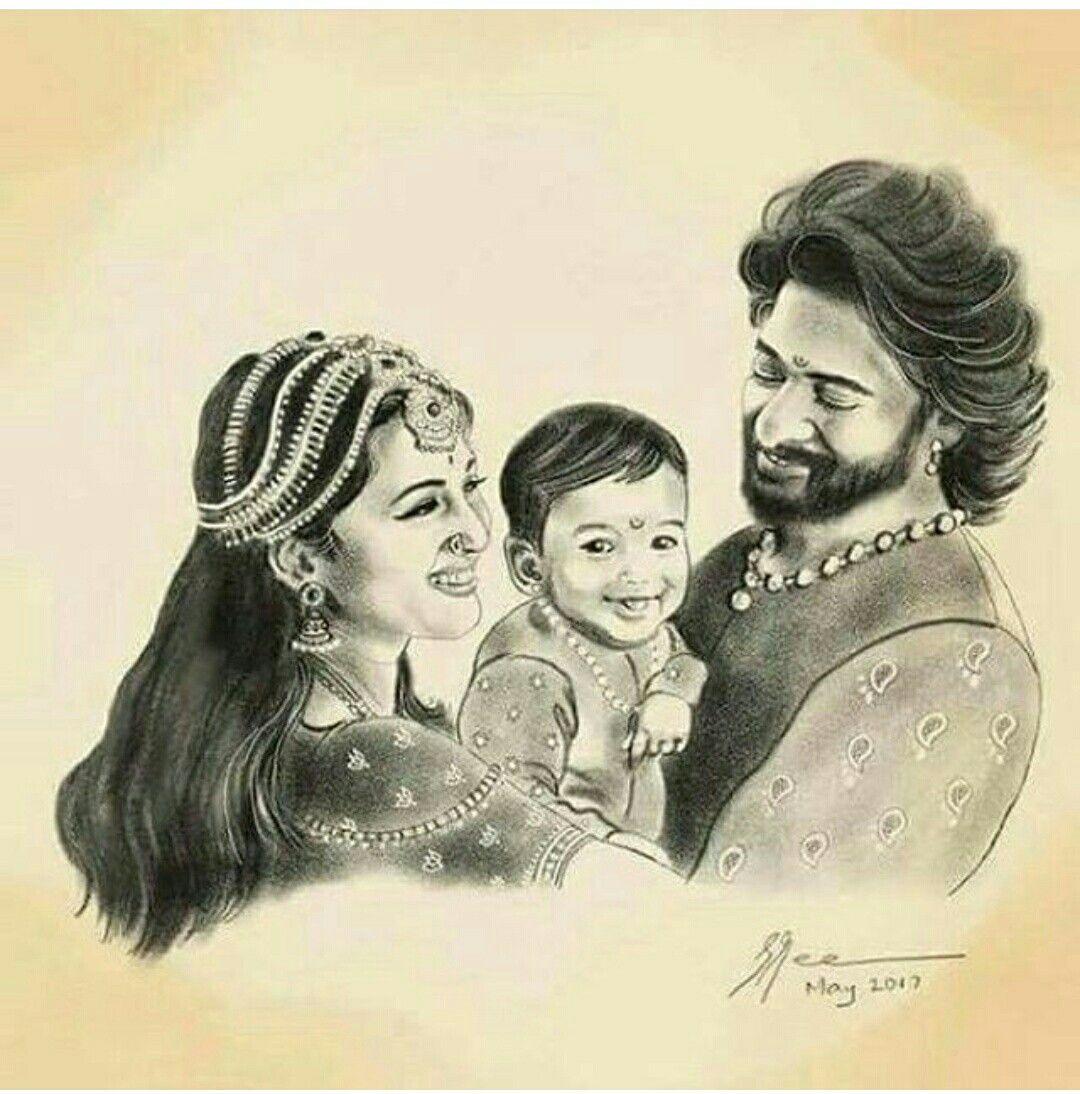 Pin by bhavana sain on anushka and prabhas   Art sketches ...