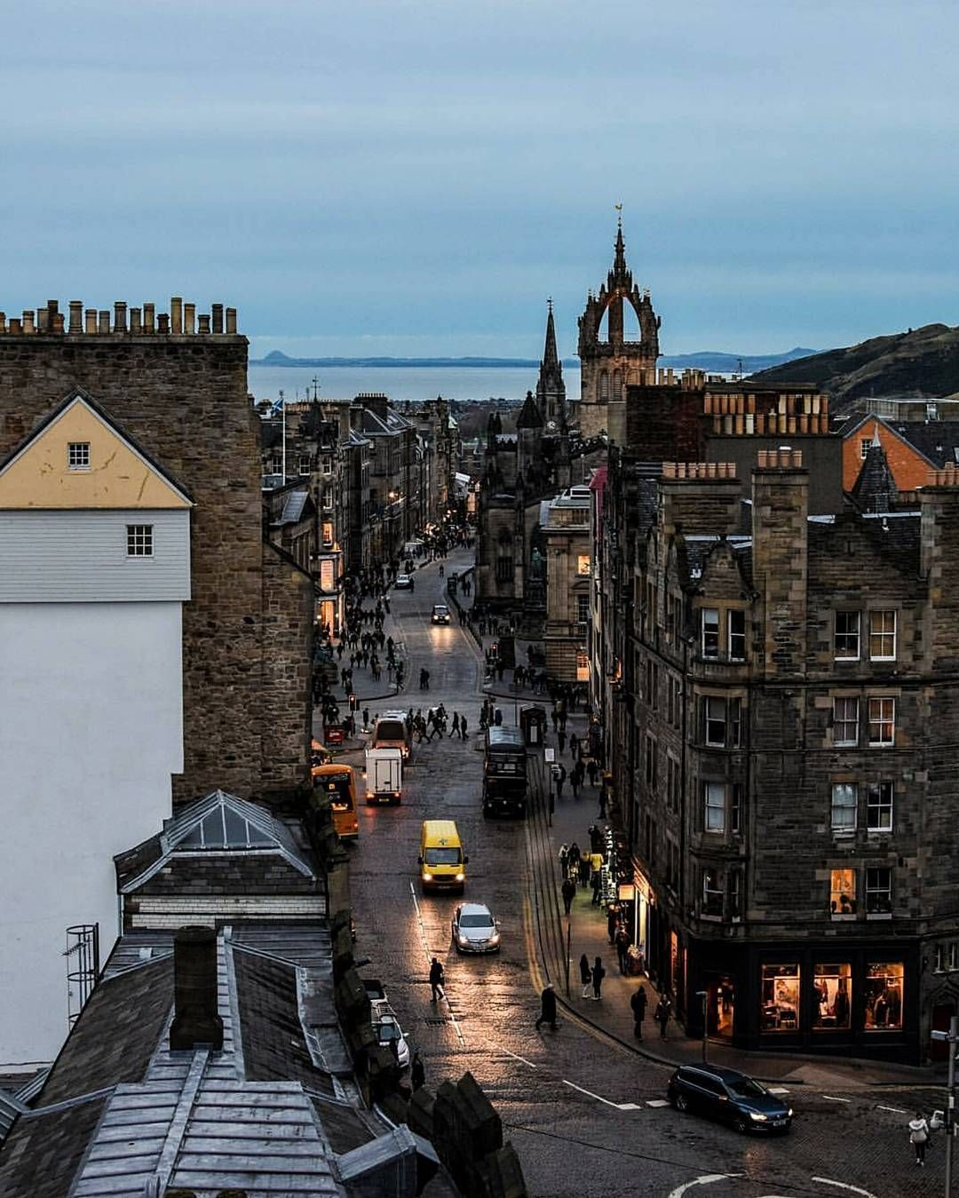 "Edinburgh on Instagram: ""Evening shot of the Royal Mile"