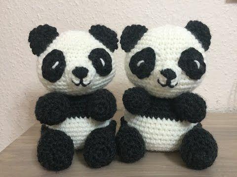 パンダのあみぐるみ | Gehäkelter panda, Tiere häkeln, Amigurumi häkeln | 360x480