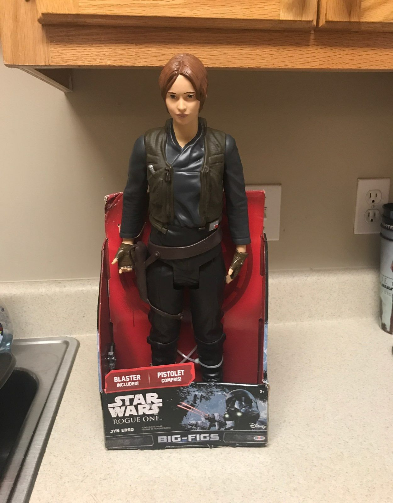 """BIG FIGS Star Wars Rogue One 18/"""" Jyn Erso Action Figure Character Toy FREE SHIP!"""