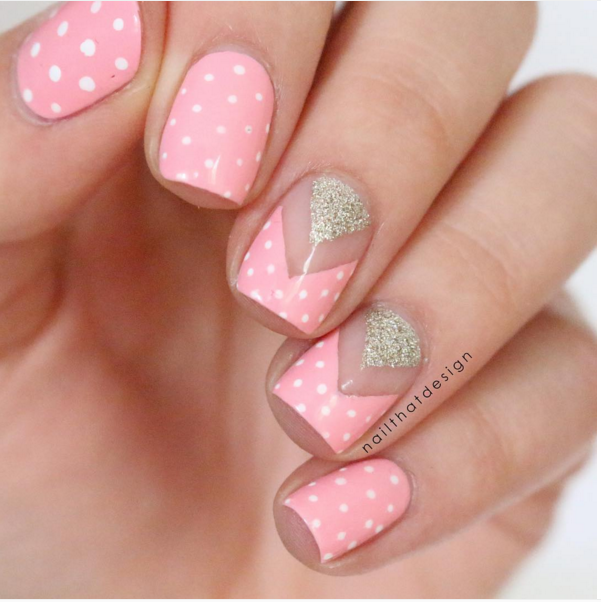 33 Cute Pink Nail Designs You Must See Nail Design Pinterest