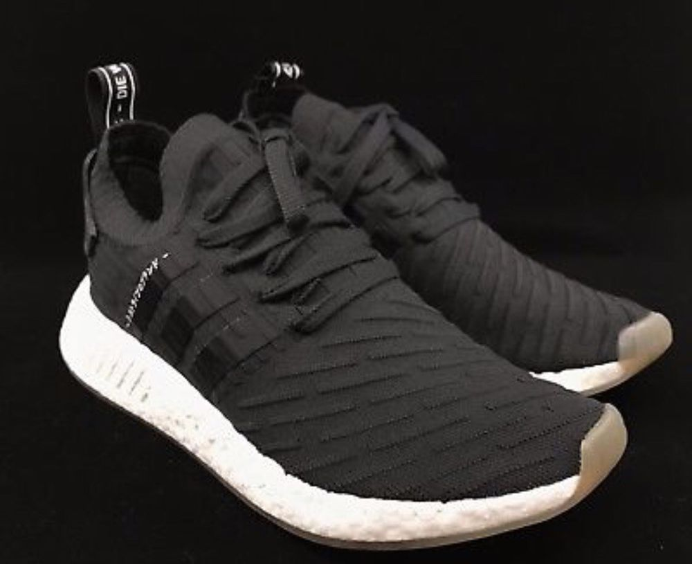 33c1c26f8 Adidas NMD R2 Primeknit Black White Gum Japan Pack Mens 9  fashion   clothing