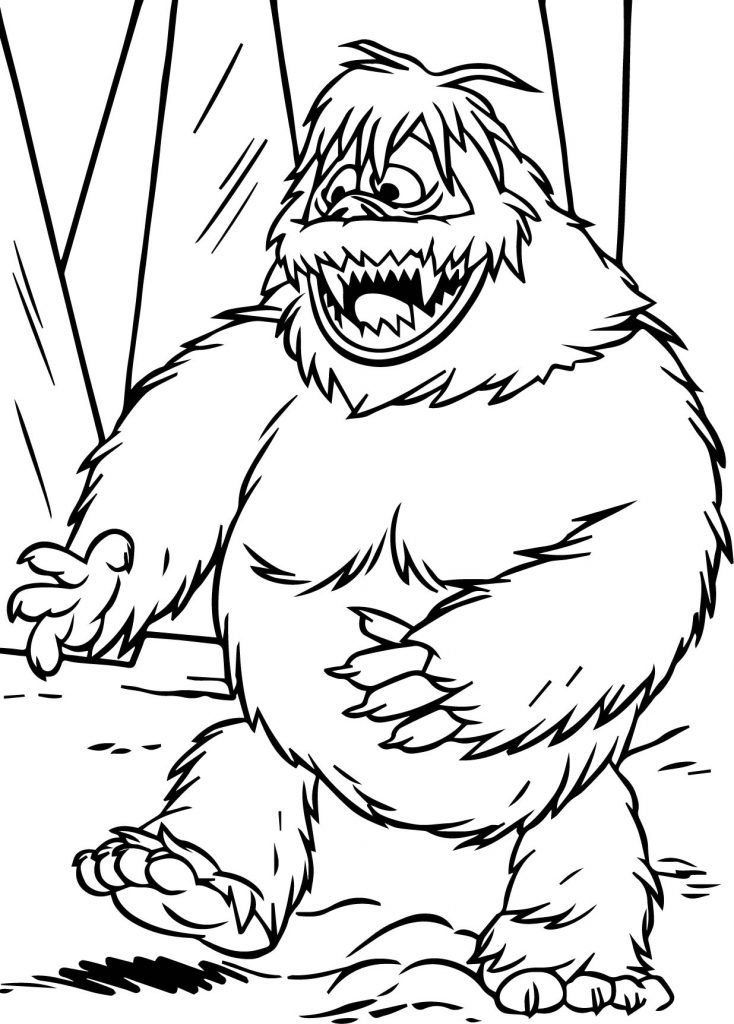 Abominable Snowman Happy Coloring Page 734x1024 Jpg 734 1024 Rudolph Coloring Pages Monster Coloring Pages Snowman Coloring Pages