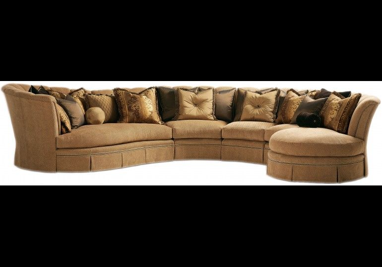 high end upholstered furniture. SECTIONALS - Leather \u0026 High End Upholstered Furniture Sectional With Curved Lines And Coordinating Accent Pillows N