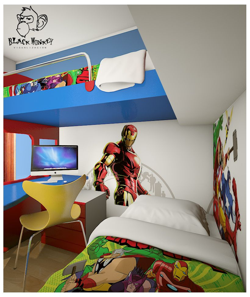 Small Kids Bedroom Ideas Cartoon Theme Ideas For Boys Bedroom - Kids bedroom
