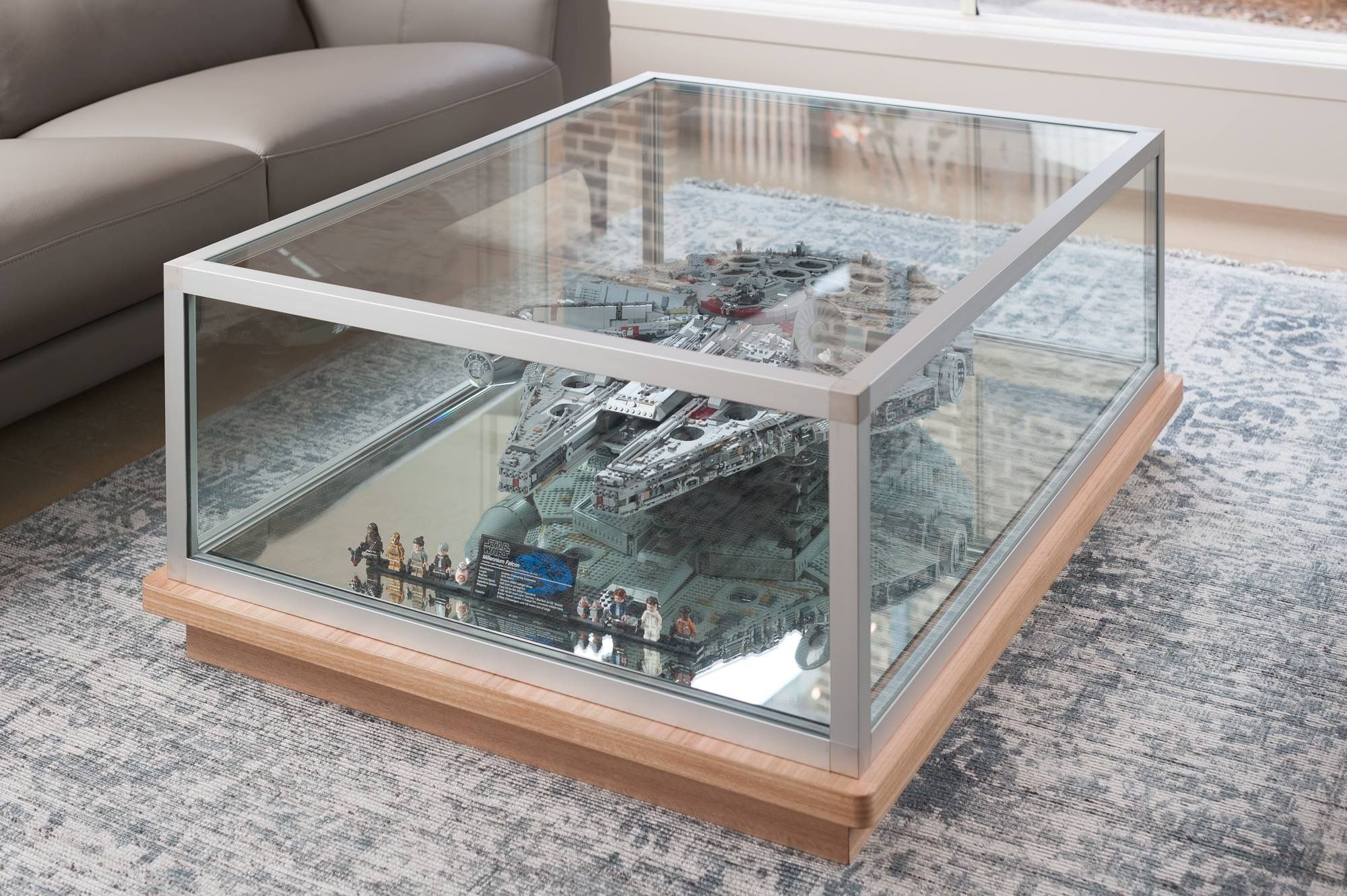 Custom Fitted Timber And Glass Coffee Table With Lego Display Custommadefurniture Cmfurnituredesign Custommadec Coffee Table Custom Made Furniture Furniture [ 1331 x 2000 Pixel ]