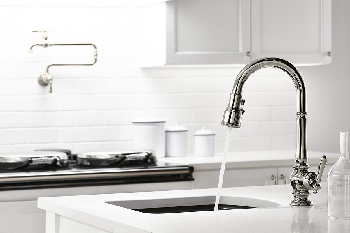The Sweep Spray Function On This Kohler Faucet Uses Specially Angled  Nozzles To Create A Forceful Blade Of Water Designed Specifically To Sweep  Away Stuck ...