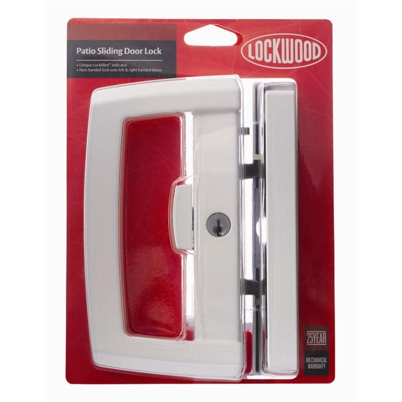 Lockwood White Onyx Dual Handed Patio Sliding Door Lock | Bunnings ...