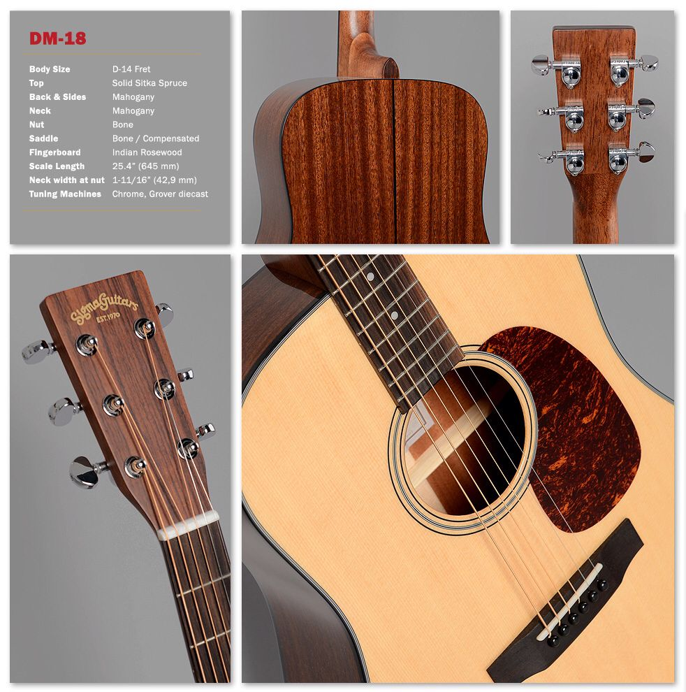 Sigma Guitar Dm 18 Http Www Sigma Guitars Com Index Php Id 250 Martin Acoustic Guitar Guitar Playing Guitar