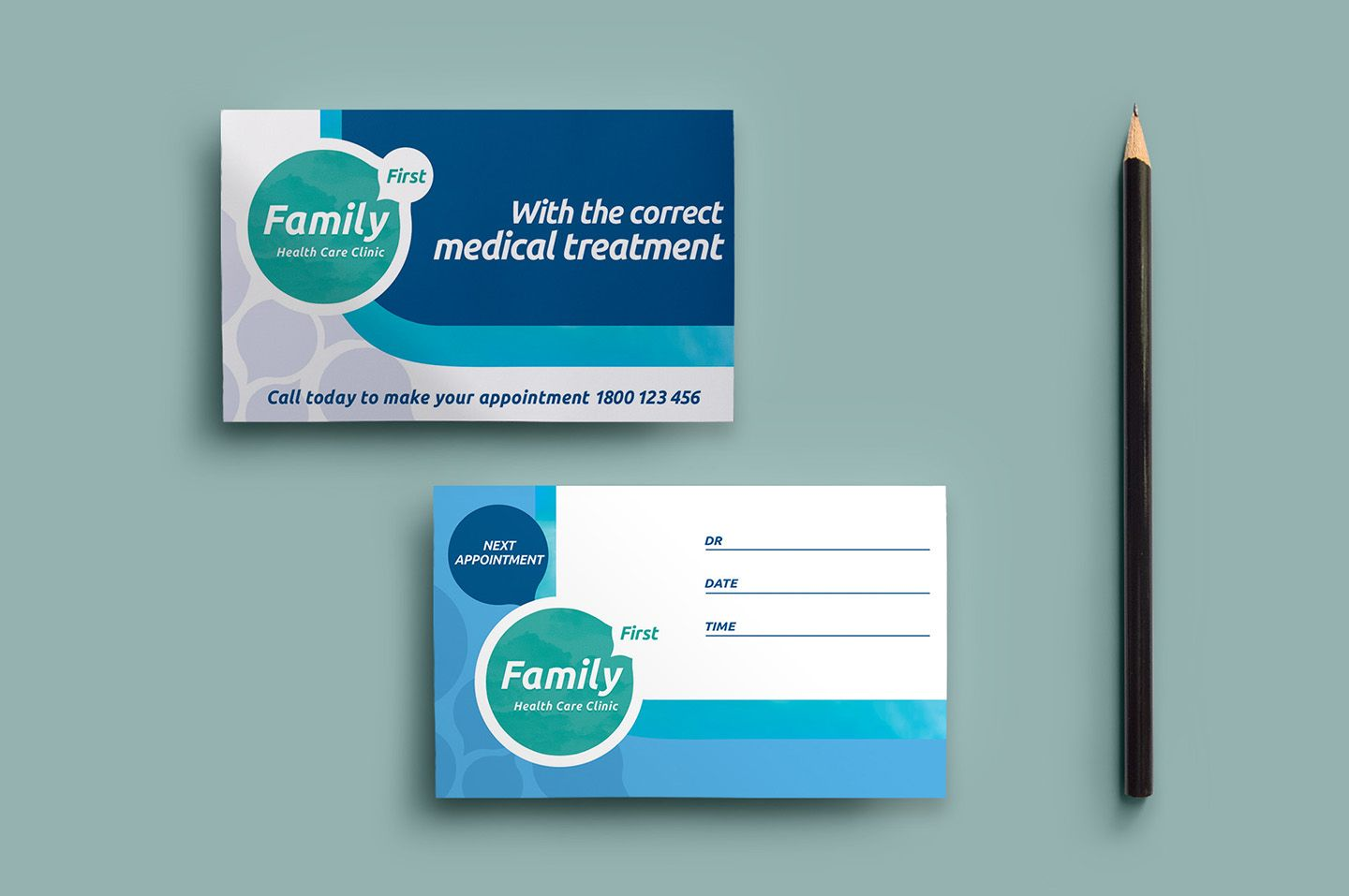 Healthcare Clinic Appointment Card Template In Psd Ai Throughout Dentist Appointment Card Template Profe Appointment Cards Dentist Appointment Card Template