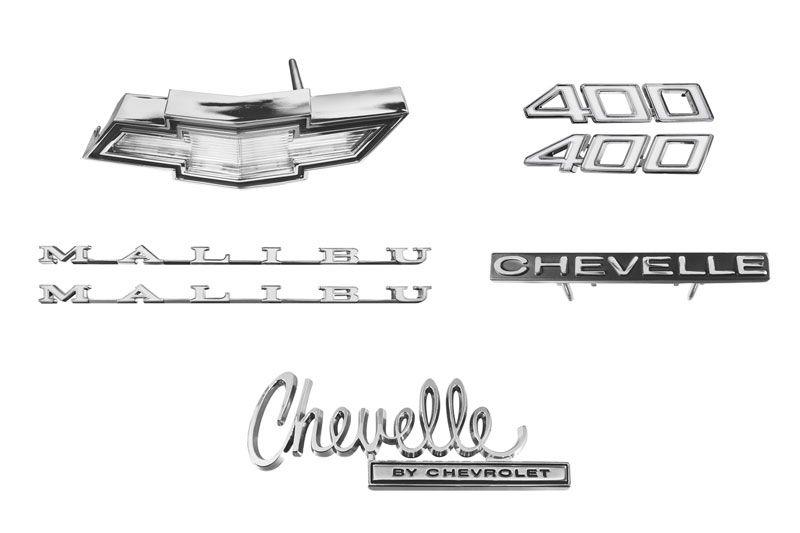 Emblem Kit 70 Chevelle 400 Camaro Parts Chevelle Parts El Camino
