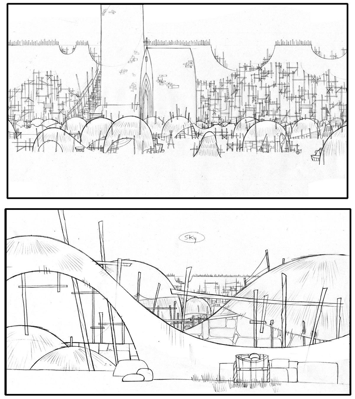 Niklas Kragh Andersen layouts, The Secret of Keels, dir. Tomm Moore