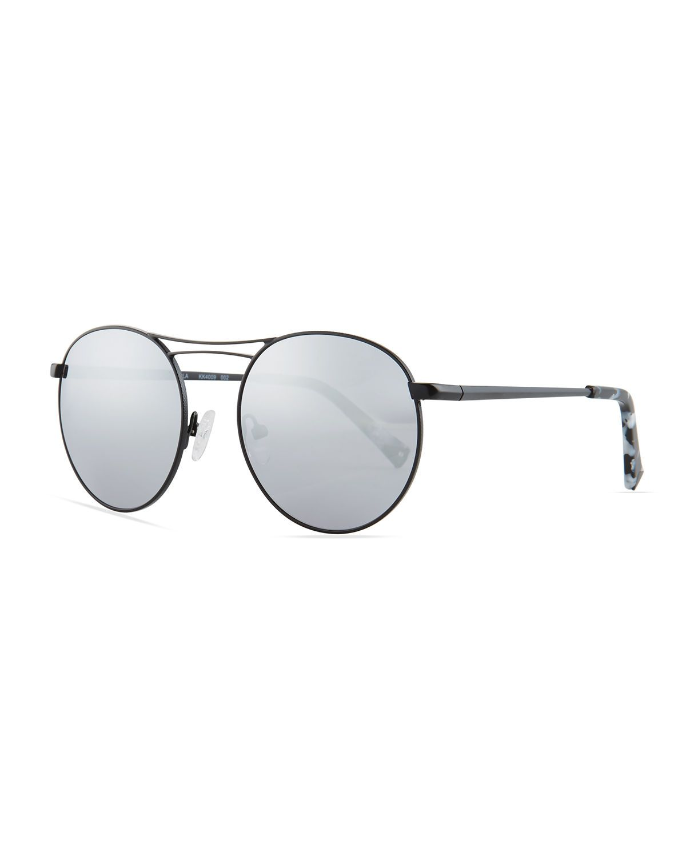 Bella Thin Wire Round Sunglasses