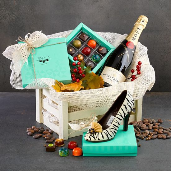 christmas gift basket ideas for couples to enjoy romantic champagne chocolate