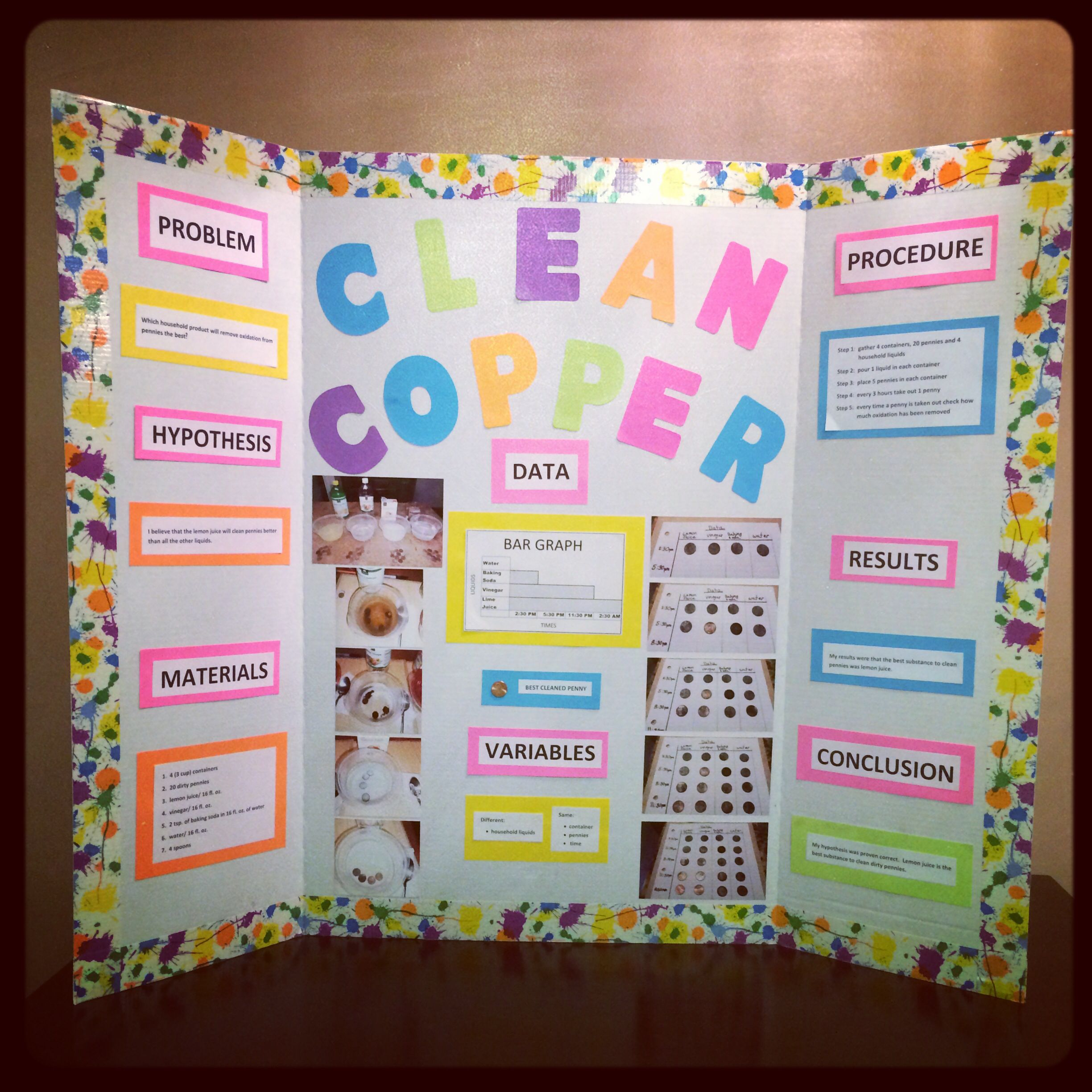 science fair project clean copper with pennies science