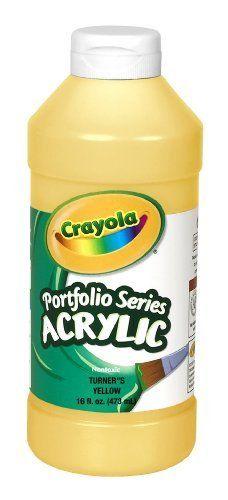 Crayola Portfolio Series 16 Ounce Acrylic Paint Turner S Yellow