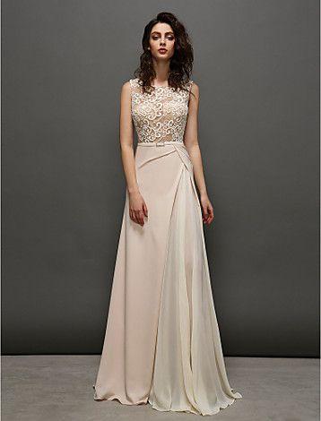 35096a650 una línea de vestidos joya de barrido   cepillo tren gasa y encaje noche  (2377130) - USD   119.99