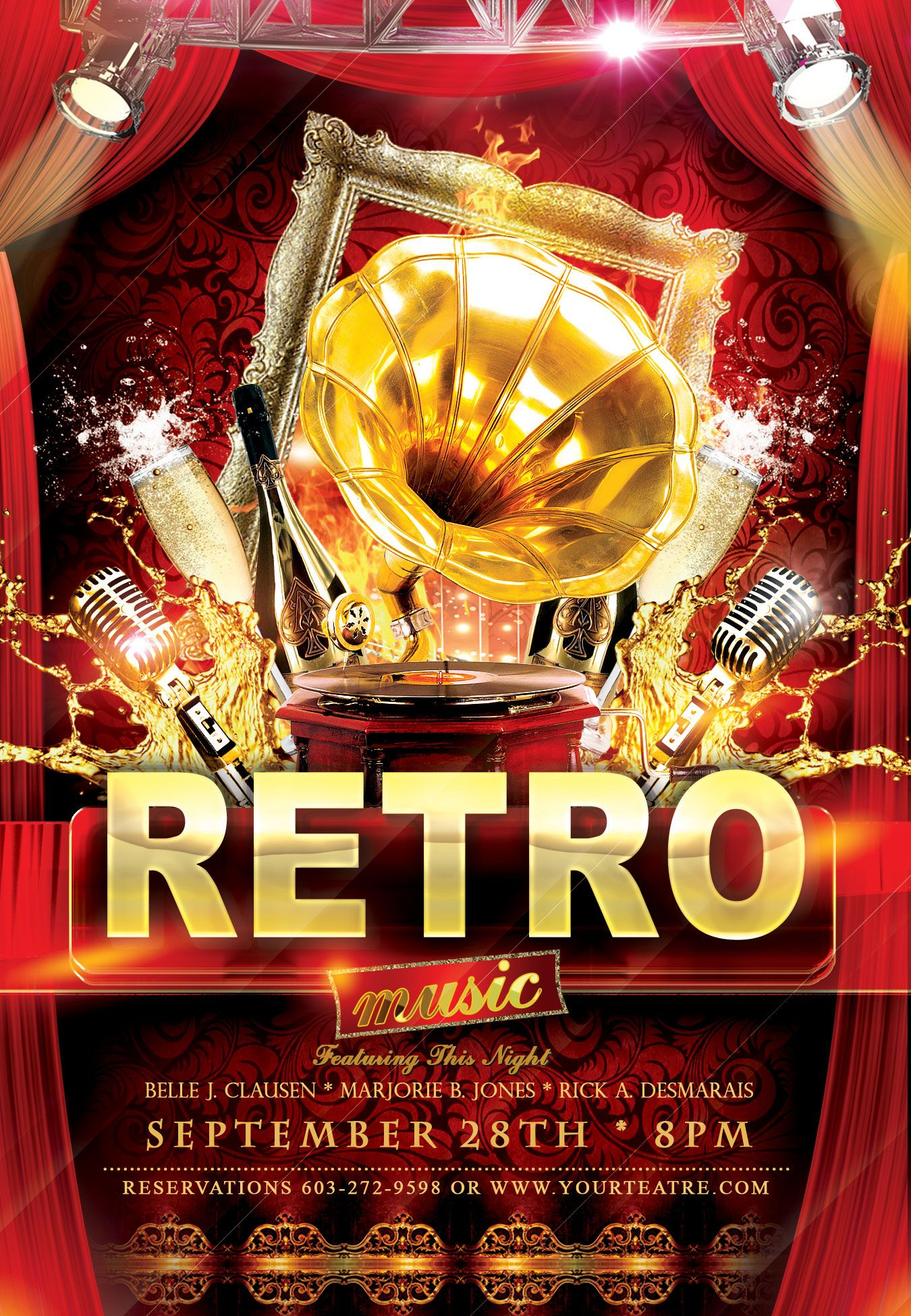 Free Retro Flyer Psd Template  StyleflyersCom Are You A Part Of