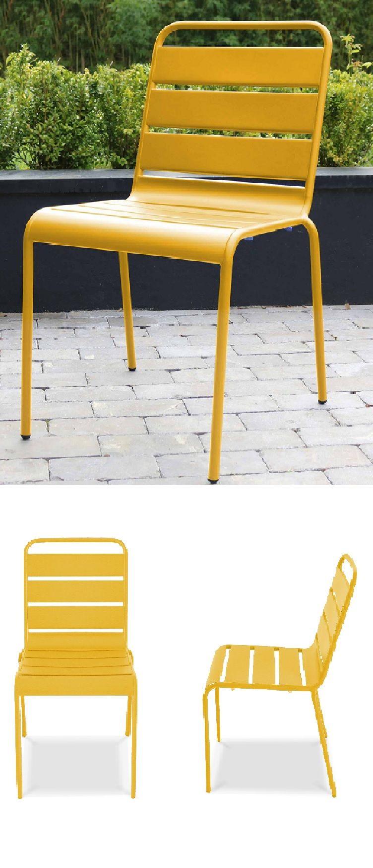 oviala chaise jardin metal
