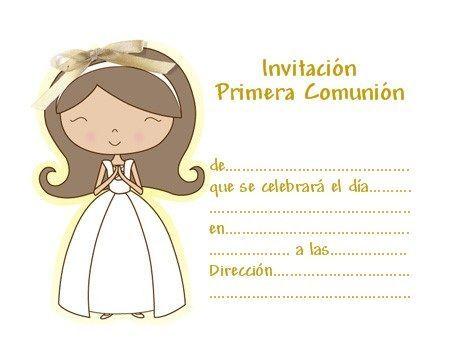 Nuevas invitaciones de comunión para imprimir gratis | Detalles para ...