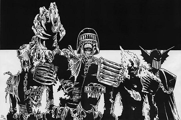 Judge Mortis 2000ad Comics Judge Dredd Dark Judge Profile