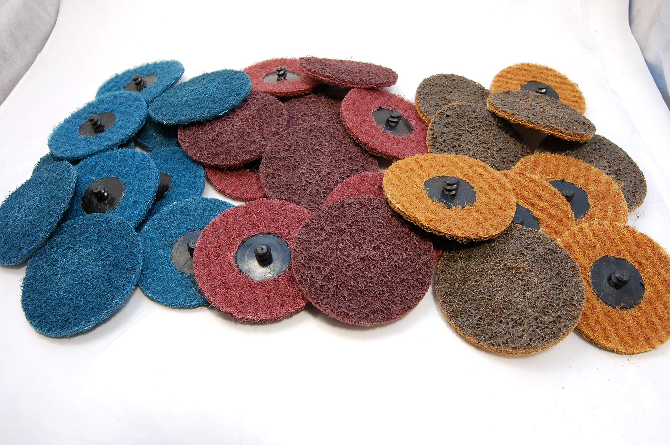 """30pk 3/"""" Assorted Surface Conditioning Prep Sanding Discs Type R Quick Change"""