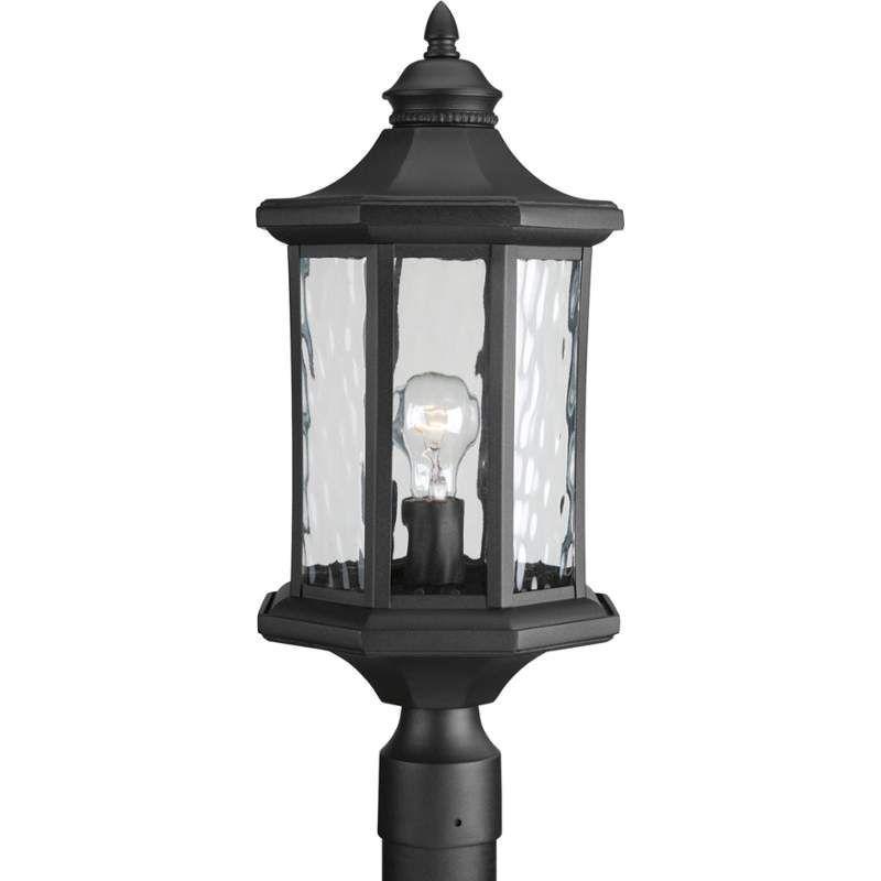 "Progress Lighting P6429 Edition 9"" Wide Single Light Outdoor Post Light with Wat Black Outdoor Lighting Post Lights Post Lights"
