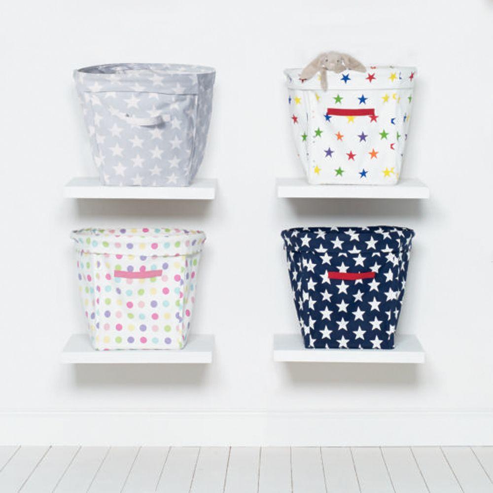 Kids Storage Cube Organizer Toy Box Kids Bedroom Furniture: Storage Cubes, Star Pattern, Canvas Cubes, Space Saving