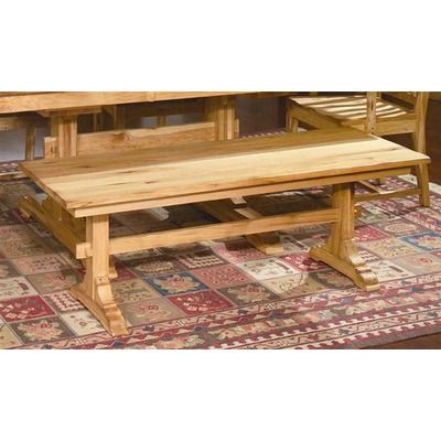 $495. America Country Hickory Kitchen Bench